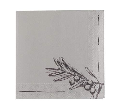 Tavolinas Papier Servietten I Olive I Mediterran I Stillvolle Tischdeco I 20 Stück