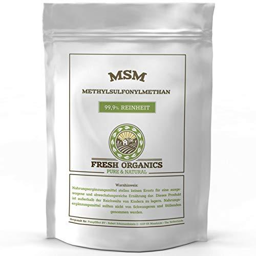 MSM PULVER | 2 kg | Methylsulfonylmethan | 99,9% Reinheit - organischer Schwefel | Ohne Zusatzstoffe (2kg)