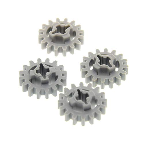 4 x Lego Technic Zahnrad neu-hell grau z16 Zahnräder 16 Zähne Rad Technik neue Form 94925