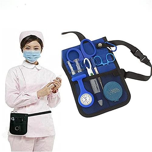 BILXXY Bolsa de Cintura para Enfermera Veterinaria, Herramienta Multifuncional para Enfermera, Organizador de Bolsa de Transporte, Correa de cinturón Ajustable, riñonera, Organizador para Mujer