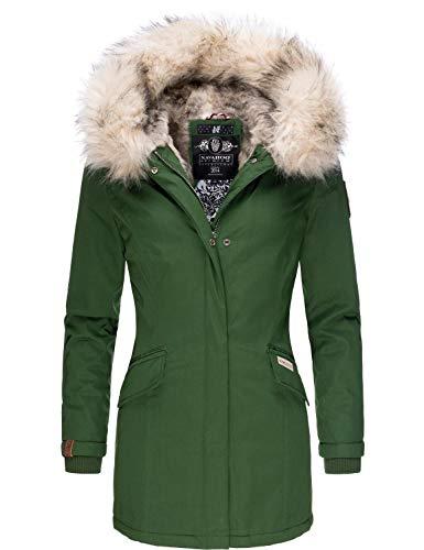 Navahoo Damen Winterjacke Winterparka Cristal Green Gr. M