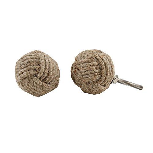 CGB Giftware - Pomo de cuerda de yute para armarios o cajones (Talla Única/Marrón )