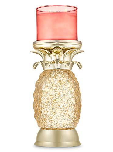 White Barn Bath and Body Works Pineapple Water Globe Glitter Swirl LED Candle Holder Pedestal