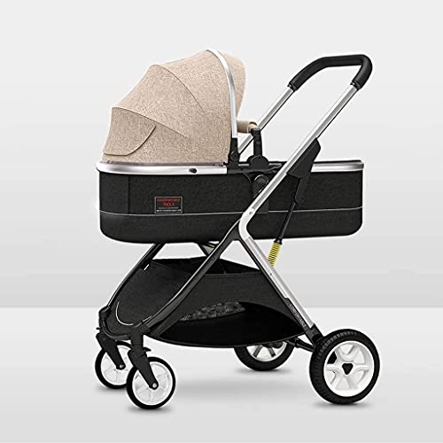 LOXZJYG Travel System Baby Stroller,All Terrain Pushchair Stroller Compact Convertible Luxury Strollers,Baby Stroller, Extra-Large Storage, Durable Construction, Compact Folding Design