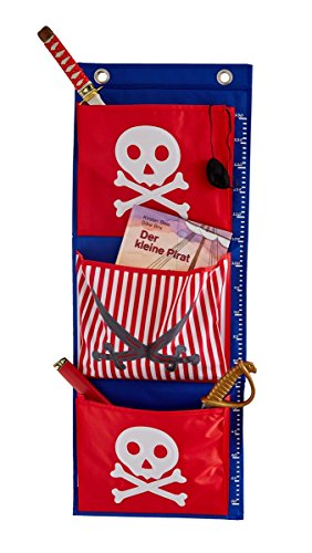 Store It 671947 Tente et auvent en Tissu Suspension Fichier, étagère de Rangement, Rouge et Bleu Pirate Chambre Enfant