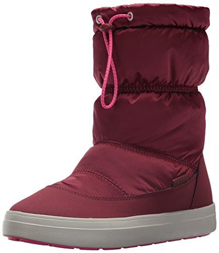 Crocs LodgePoint Shiny Pull-on Boot, Mujer Bota, Marrón (Garnet Candy Pink), 38-39 EU
