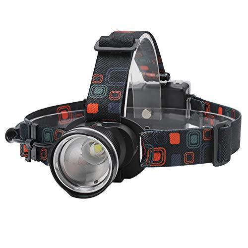 Torcia a LED Zoomable faro torcia 3 modalità con luce bianca impermeabile testa torcia per pesca campeggio escursionismo (nero) luci esterne montaggio a parete