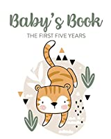 Baby's Book The First Five Years: Memory Keeper - First Time Parent - As You Grow - Baby Shower Gift