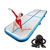 BATTIFE Air Track 10ft Inflatable Gymnastics Tumbling Mat 4 Inch Thickness for Home Use/Yoga/Practice Gymnastics/Water with Electric Pump(Blue)