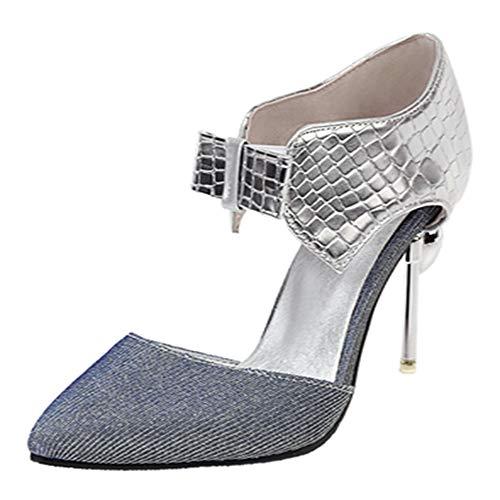 Kaizi Karzi Mujer Moda Tacón Pequeno Sandalias Punta Abierta Puntiagudo Fiesta Zapatos...