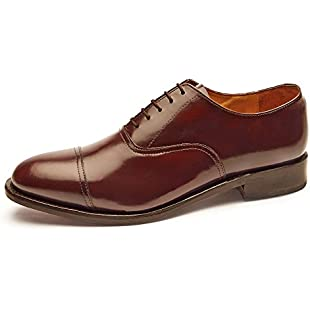 Customer reviews Samuel Windsor Men's Handmade Goodyear Welted Lace-up Oxford Leather Shoes in Black, Tan, Chocolate Brown and Burgundy Brown. (8, Brown):Carsblog