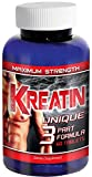 Kreatin(TM) - Pure Creatine Monohydrate Supplement, 5000mg Pills, Optimum Tri-Phase Formula - Muscle Performance and Development Supplement