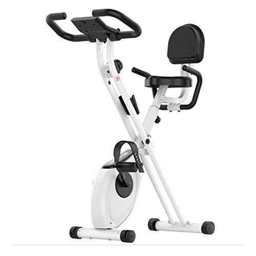 QINYUP - Bicicleta de spinning plegable para el hogar, equipo de fitness para interiores, control magnético