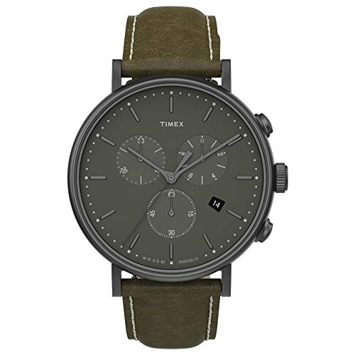 Timex 41 mm Fairfield Chronograph Gunmetal/Olive/Olive One Size