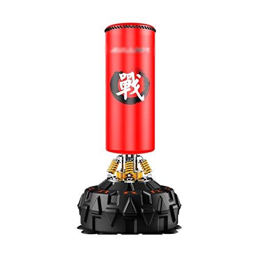 XIANGJI Attrezzatura da Boxe Resistente e Durevole Borsa Perforata per Adulti per Adulti, Sacchetto per punzonatura Pesanti con la Base di Ventosa Allenatore di Boxe (Color : Red)