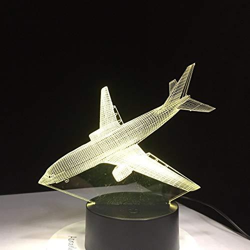 Aviones Aviones Acrílico Luces nocturnas Luces de Juguete Avión Noche Mesa táctil Lámparas de Mesa de Color para niños Navidad