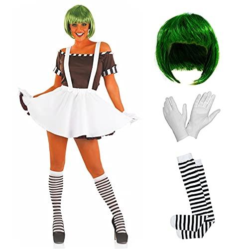 Costume per Adulti da Donna Operaio della Fabbrica di Cioccolato Abito del Personaggio del Film e Libro - Taglia M