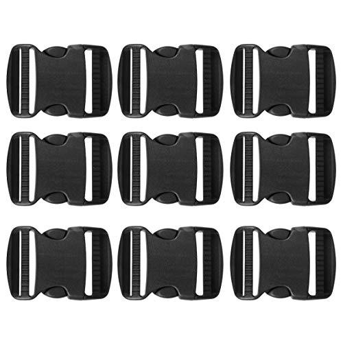 SUPVOX 20pcs hebillas de correa de plástico hebillas de correa de doble ajuste hebillas de liberación universal hebillas de seguridad ajustables accesorios de equipaje -3.8cm