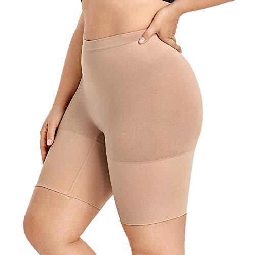 DELIMIRA Pantalones Moldeadores Braguitas Reductoras Adelgazantes Tallas Grandes para Mujer Gris Pardo 56-58