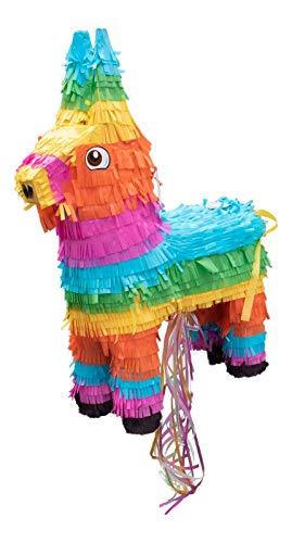 Goodtimes Esel Pinata Bunt, 55cm hoch, zum Befüllen mit Süßigkeiten, als Geschenkidee für Geburtstag, Hochzeit, Party