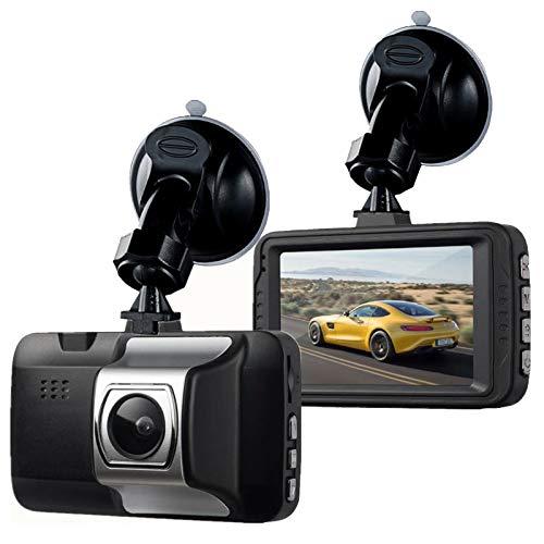 Cámara para Salpicadero de Coche 1080P Full HD DVR Cámara de Vídeo Grabadora WDR, con Súper Visión Nocturna, para Detección de Movimiento, Monitoreo de Estacionamiento, Sensor G, Grabación en Bucle