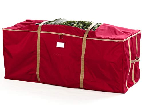 Covermates Keepsakes Christmas Tree Storage Cinch Bag - Superior Protection - Fits Up to 9 to 11 Foot Tree - Holiday Storage - Red