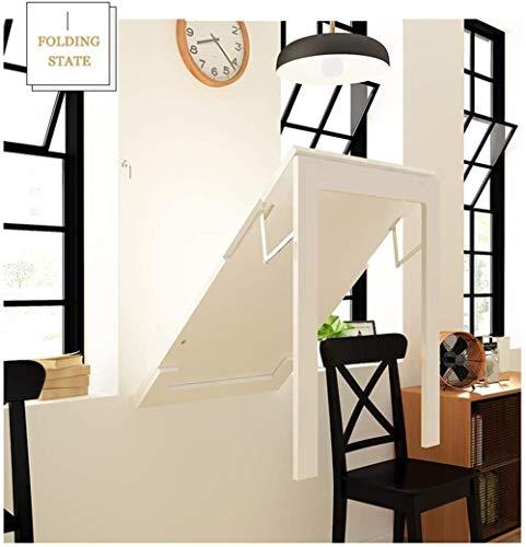 JIADUOBAO Mesa plegable de pared, diseño telescópico, escritorio más grande, mesa de comedor multifunción, contador de bar, marco de fotos decorativo (color: blanco, tamaño: 90 x 60 cm)