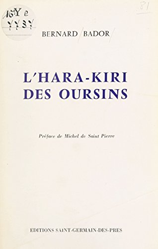 L'hara-kiri des oursins (French Edition)