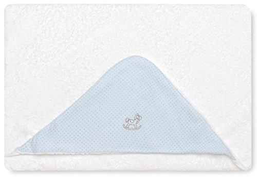 Bimbi 00705103 – Maxicapa Motif Dots, 100 x 100 cm, couleur bleu
