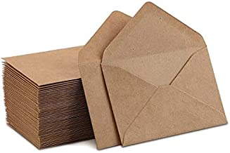 Kraft Mini Envelopes Brown Kraft Envelopes for Gift Cards and Business Cards (4
