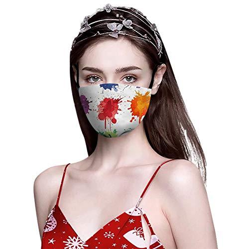 henri 1 Stück Mund-Nasen-Maske Behelfs-mundschutz Stoffmaske schwarz waschbar Maske Das Erntedankfest 100% Baumwolle Mund und Nasenschutz Atmungsaktiv Halstuch Bandana Stoff
