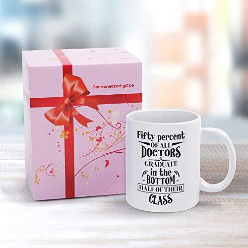 Taza de cerámica de 325 ml, idea de regalo para cumpleaños, boda, aniversario y otros momentos especiales, el cincuenta por ciento de todos los médicos