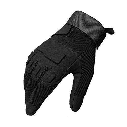 Oziral Motorrad Vollfinger Handschuhe, Herren Sporthandschuhe Geeignet für Laufen Training Vollfinger Maxi Grip Klettern Rennen Radfahren Wandern (XL)