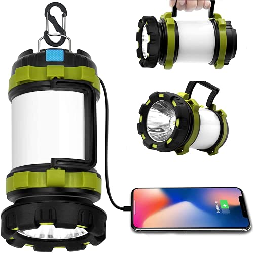 Wsky Rechargeable Camping Lantern, 1800LM Camp Light Camping Lamp, 6 Modes, 4400 mAh Power Bank - Best Lantern Flashlight for Camping Outdoor Hurricane Emergency Everyday Flashlight