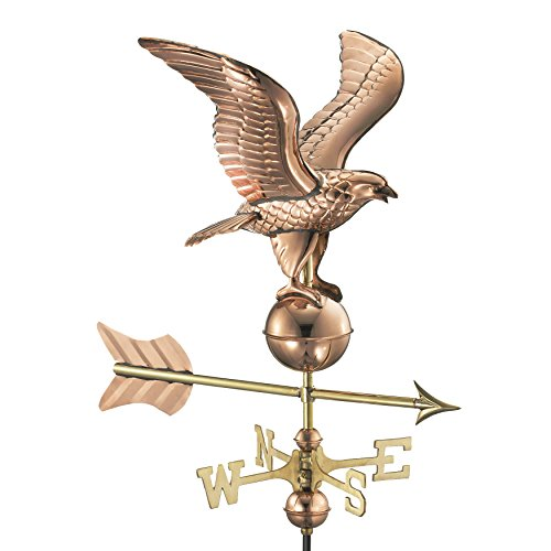 Good Directions 8815PR Eagle Cottage Weathervane, Polished Copper with Roof Mount