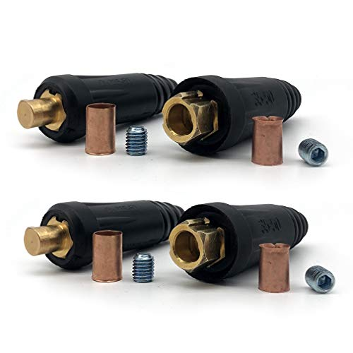 RX WELD Welding Cable Quick Connector Pair DINSE-Style (200Amp-300Amp (#4-#1) 35-50 SQ-MM 2-set)