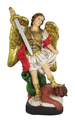 Ferrari & Arrighetti Estatua San Miguel Arcángel de 12 cm con Caja de Regalo y marcapáginas (en IT/ES/FR/IN)