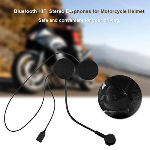 DAUERHAFT Hermoso Auricular de Motocicleta para Casco de Motocicleta