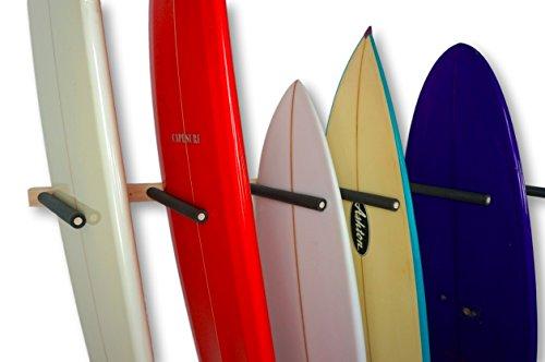 StoreYourBoard Vertical Surf Storage Wall Rack - 6 Surfboard Mount