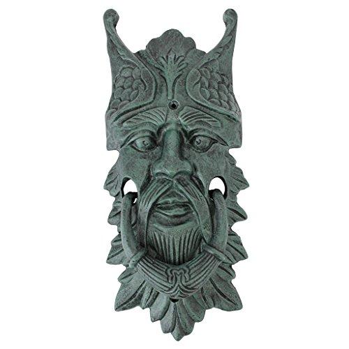 Design Toscano Castle Gladstone-Blattmaske, Türklopfer aus Eisenguss