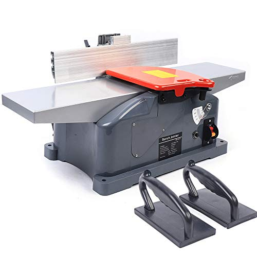 6inch Benchtop Jointer Table Top Jointers Woodworking Power Failure Protection High Power All-copper Motor Planer Jointer Combo Woodworking Portability Jointer Planer for Wood Cutting 9000/min 110V