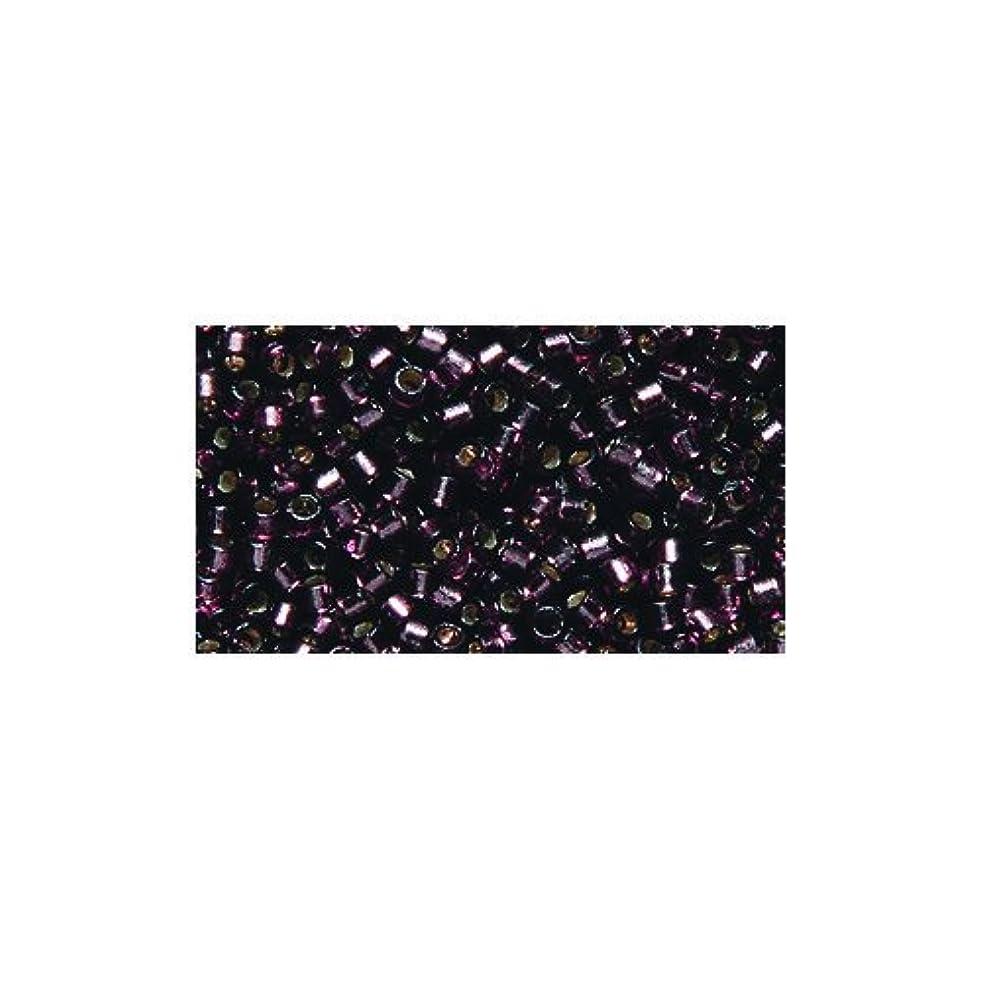 Miyuki Delica Seed Bead 11/0 DB2170, Duracoat Silver Lined Raisin, 9-Gram/Pack