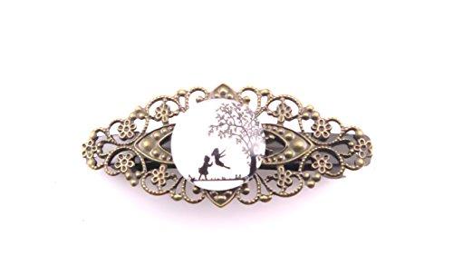 Kindheit Motiv Cabochon Haarspange Damen Haarschmuck bronzefarben