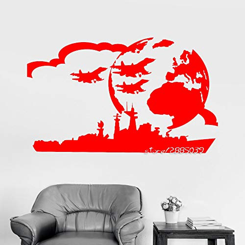 zhuziji Portaaviones Vinilo Tatuajes de Pared USS Military Art Boy Room War Pegatinas de Pared Decoración Living Wallpaper Dessign Mural 888-4 72X112cm