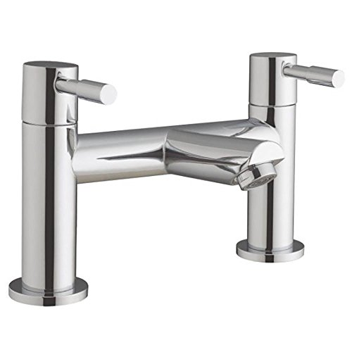 Chrome Bathroom Bath Filler Mixer Tap With Modern Peg Levers (Lola 5) by Grand Taps