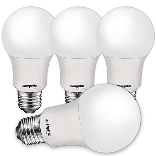 40W Equivalent A19 LED Light Bulb, Soft White 2700K, UL Listed, E26 Standard Base, Non-Dimmable LED Light Bulb, 4 Pack