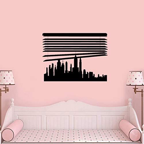 Fußballgewohnheitsaufkleber Benutzerdefinierte Skyline unter Jalousien City Home Decor Wandbild für Wohnzimmer Schlafzimmer