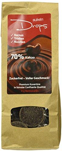 "SUKRIN ""Choc drops"" Kuvertüre, 2er Pack (2 x 100 g)"