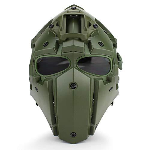 Lejie Tattico Airsoft Casco Maschera Protezione Integrale Maschera Occhiali da Caccia Paintball Tiro Moto Militare Gioco di Ruolo Puntelli di Film