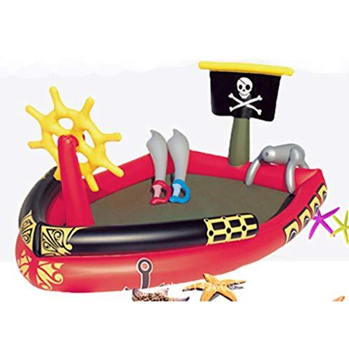 XDLH Barco Pirata Piscina Inflable, Inflable Océano Ball Pool, Bebé Piscina para Niños, Infantil Y Piscina para Niños, Piscina De Arena Gruesa De Pesca, 190 * 140 * 96Cm